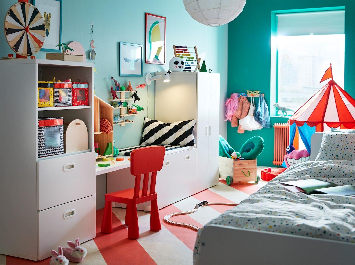 Espace De Jeu Pour Deux Enfants Ikea Kinderkamer Ikea Slaapkamer Kind Slaapkamers Bedroom furniture kids bedroom