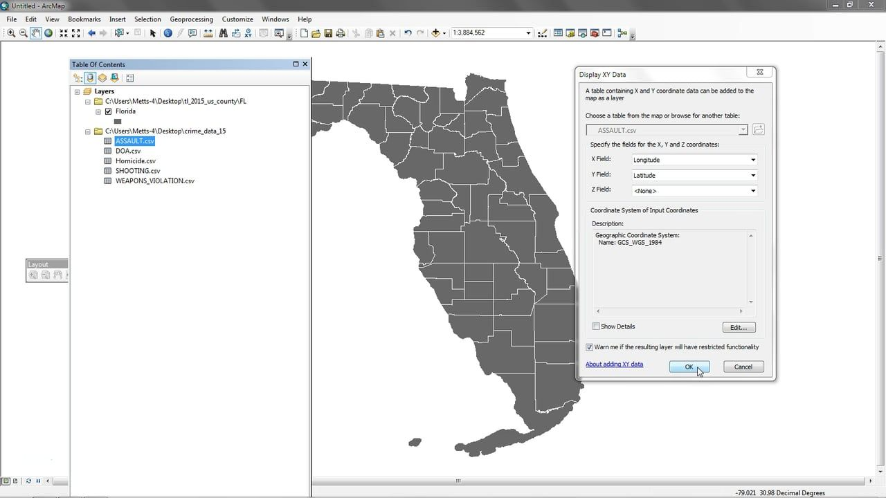 Mapping XY tabular data with ArcGIS | Geospatial / GIS