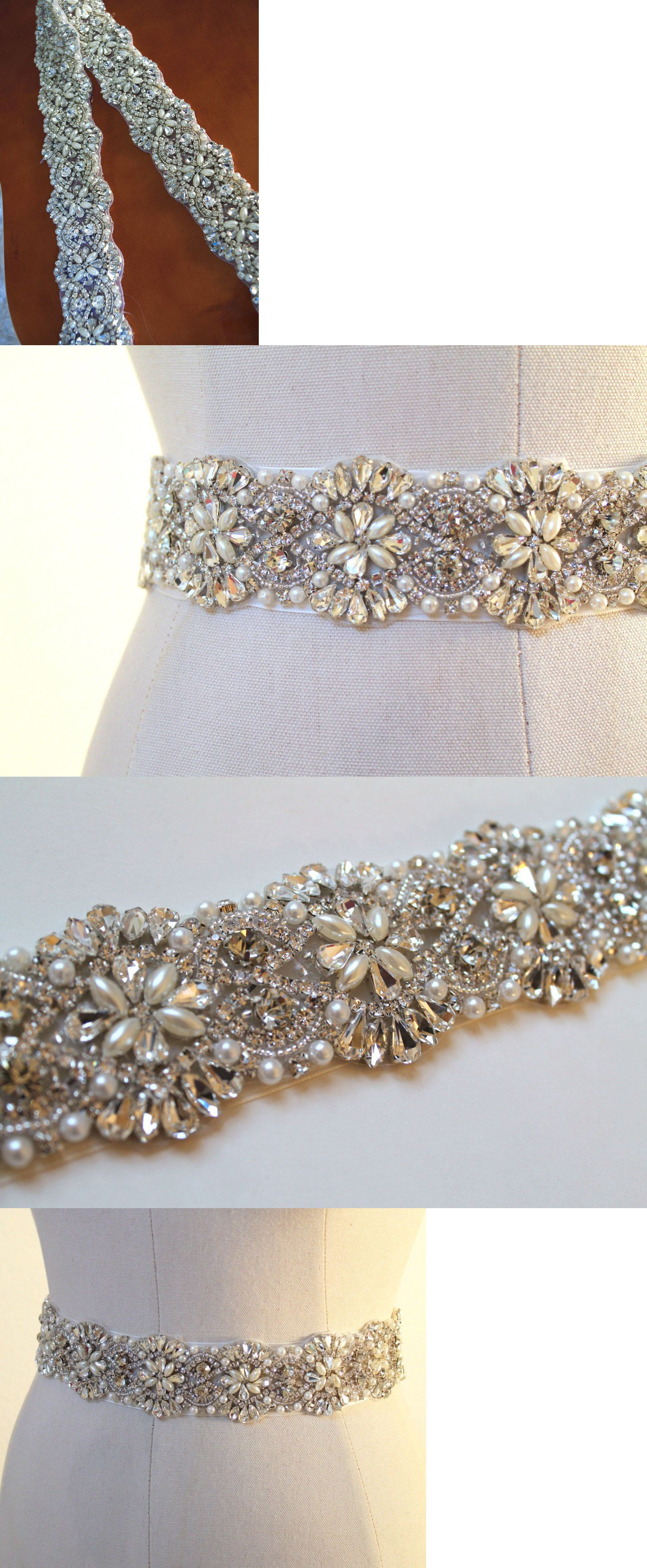 Pearl belt for wedding dress  Other Bridal Accessories     Long Wedding Bridal Sash