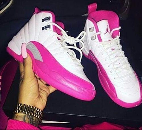 Jordan 12s pink/white | Fresh shoes