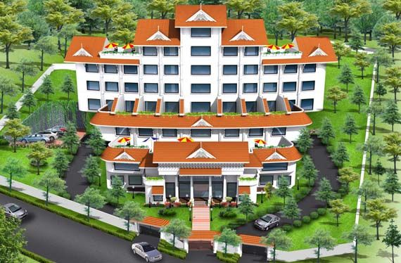 munnar palace luxury hotel with external landscape among the leading