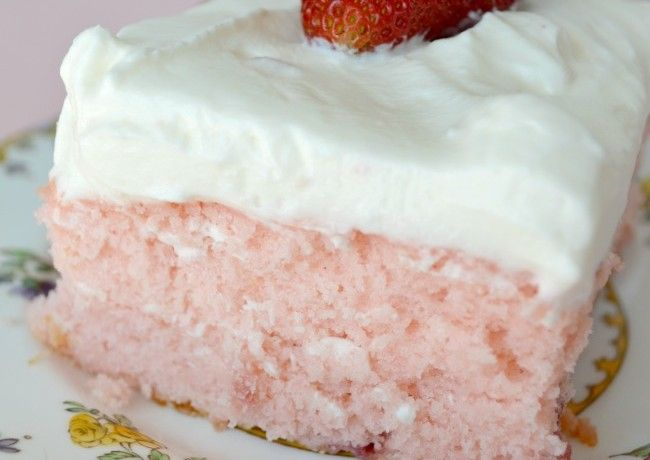 Strawberry Jello Cake Recipe From Scratch: Strawberry Sheet Cake With Lemon Frosting