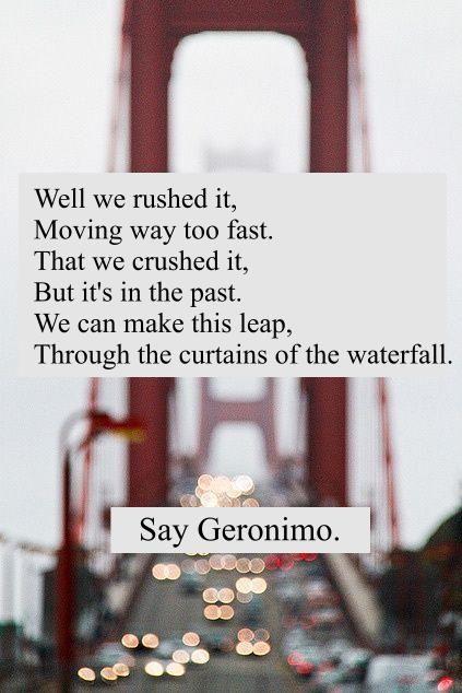 sheppard #band #geronimo   song lyrics   Pinterest   Geronimo, Songs ...