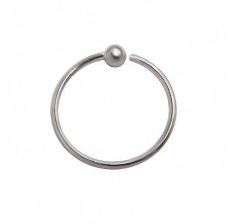 Nose Hoop Ball Sterling Silver Bodykraze