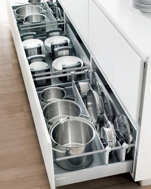 Modelos de cocinas prácticos con fácil acceso a cajones - modelos de cocinas