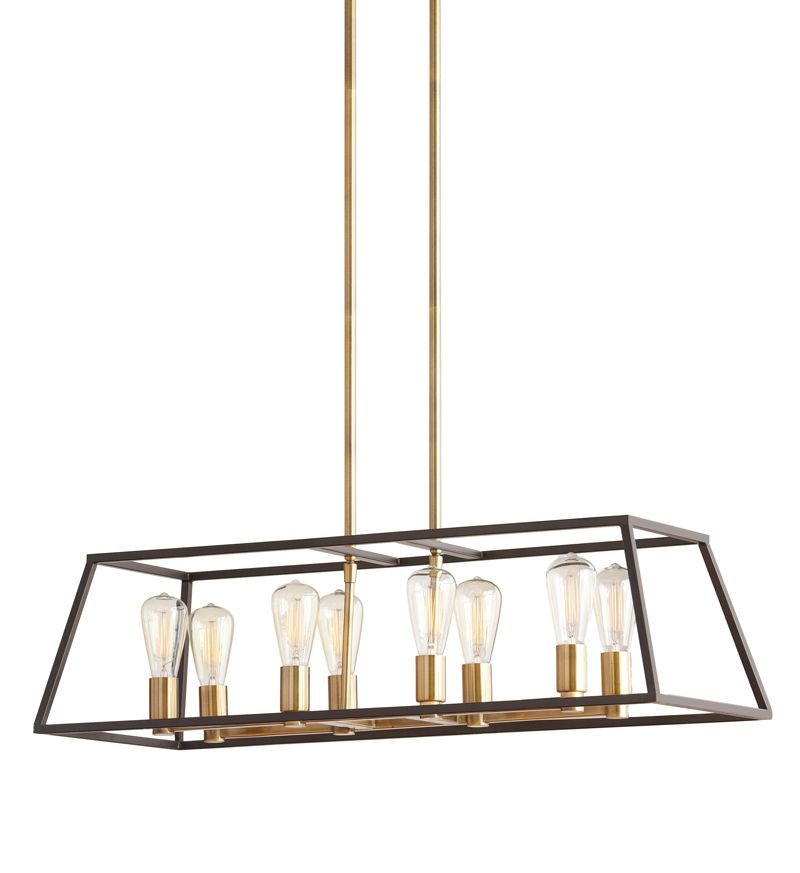 hdc 8 light two tone retro pendant this is the fixture i 39 m debating on for the new office gi. Black Bedroom Furniture Sets. Home Design Ideas