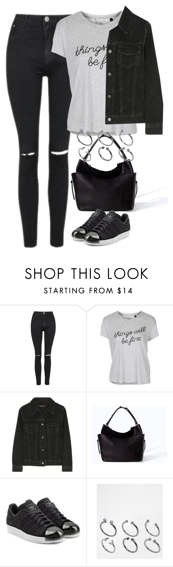 """Untitled #4062"" by keliseblog ❤ liked on Polyvore featuring Topshop, J Brand, Zara, adidas Originals and ASOS"