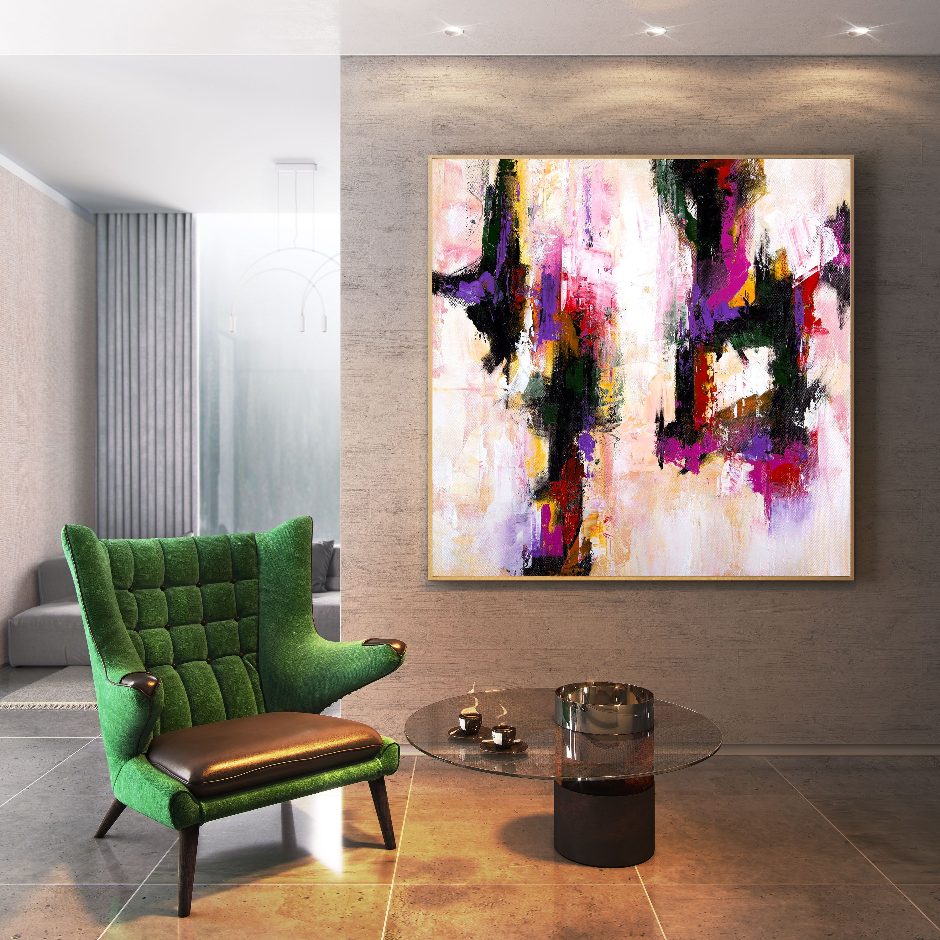 Large Abstract Painting Office