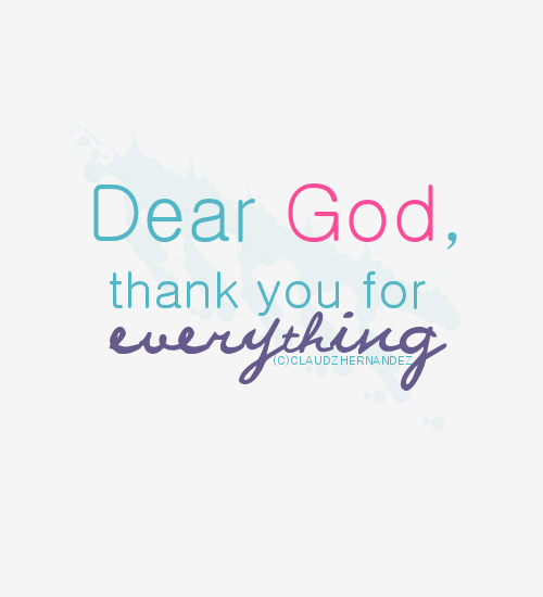 Thank you, Lord, for Everything!