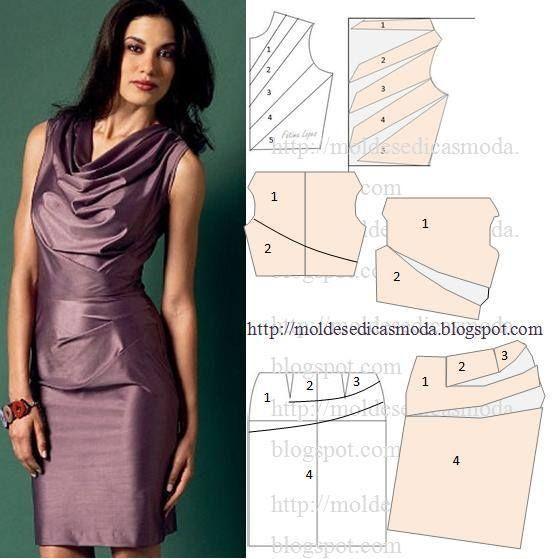 c57e96d0d7f3f0bacea6bb2148bb2f8b.jpg (552×559) | Costura Vestidos ...