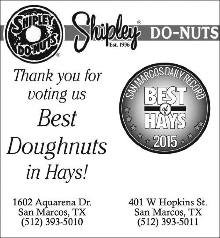 Thank You For Voting Us Best Doughnuts In Hays Shipley Do Nuts