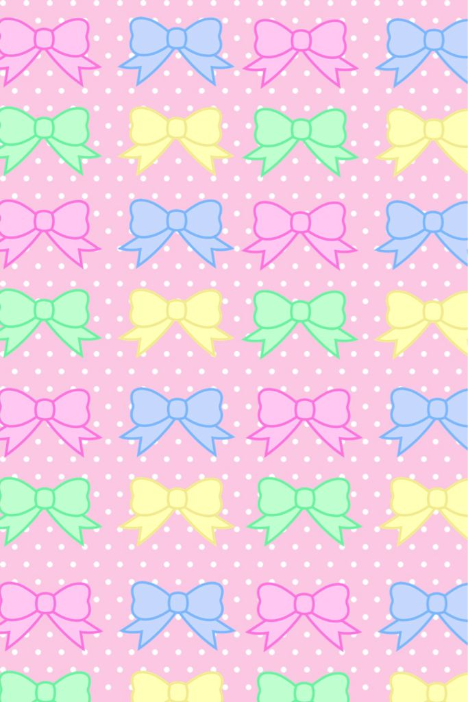 Colorful Bows Wallpaper Bow Wallpaper Pastel Bows Cute Wallpapers