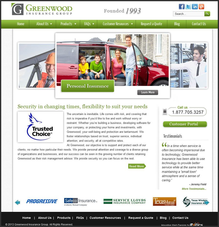 Founded in 1993, Greenwood Insurance Group provides
