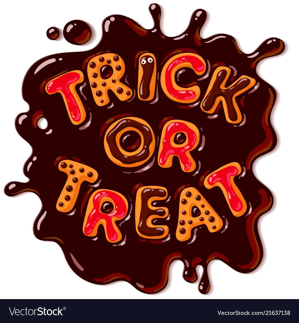 Halloween gingerbread cookies trick or treat vector image