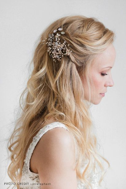 Inspirational Wedding Hairstyles with Veil and Headpiece