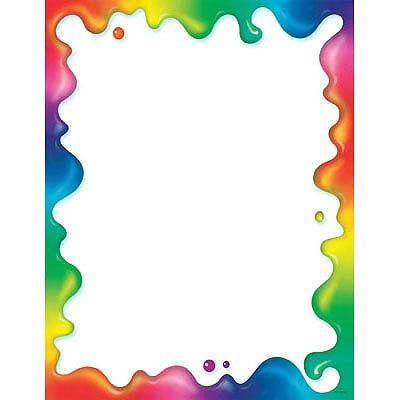 T 11409 Rainbow Gel Terrific Papers Page Borders Design Clip Art Borders Colorful Borders Design