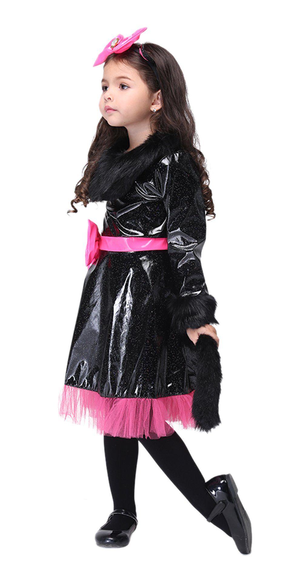 Girls Animal Cat Halloween Costumes Kids Scary Cartoon