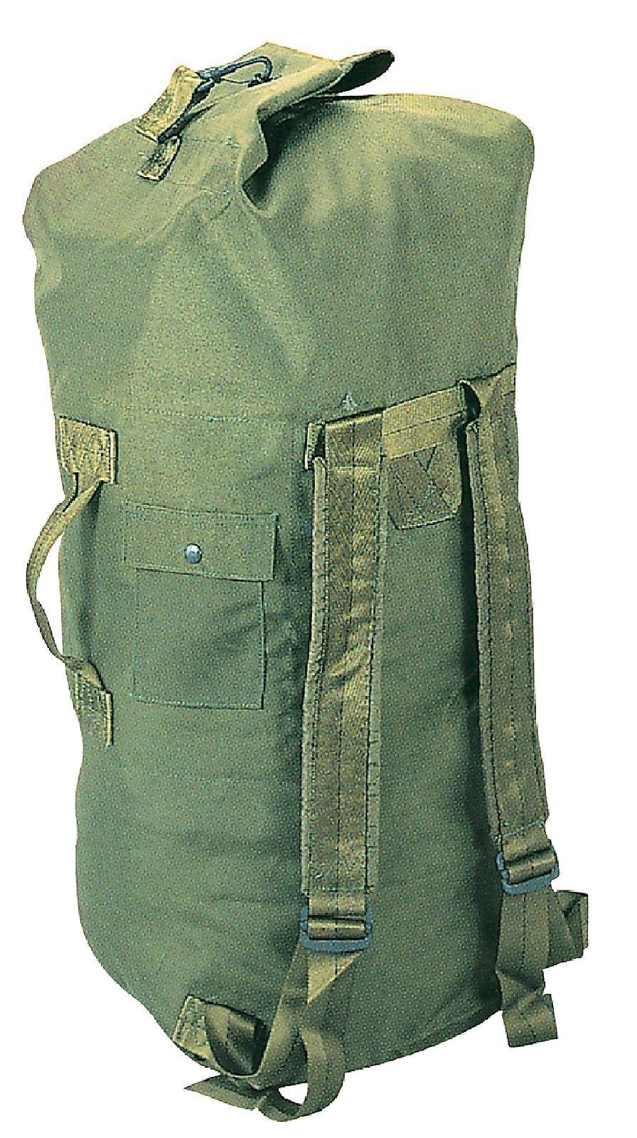Military Type Enhanced Double Strap Duffle Bag - Nylon Duffle Gear Packs  Bags 443adf890f1b