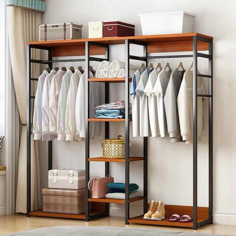 Galaxy Wardrobe Cupboard Shelves Clothes Hanging Racks Black Walnut In 2020 Cupboard Shelves Hanging Racks Shelves