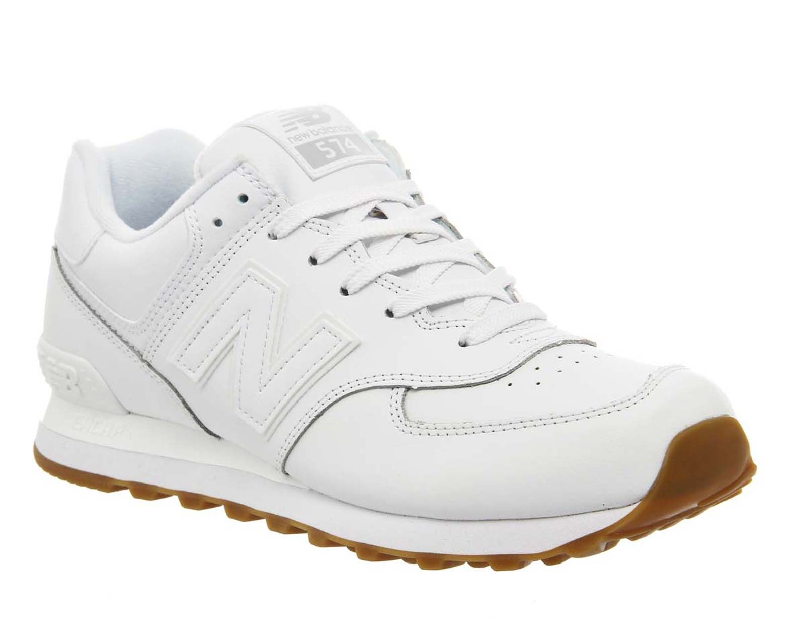 New Balance M574 White leather shoes, Retro shoes, Leather