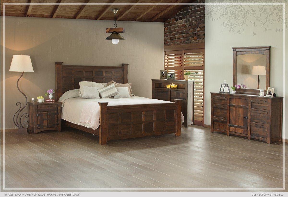 IFD567BEDROOM Furniture direct, Rustic bedroom sets
