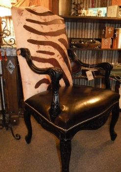 Rustic Zebra Chair My Love Affair With Chairs Cowhide