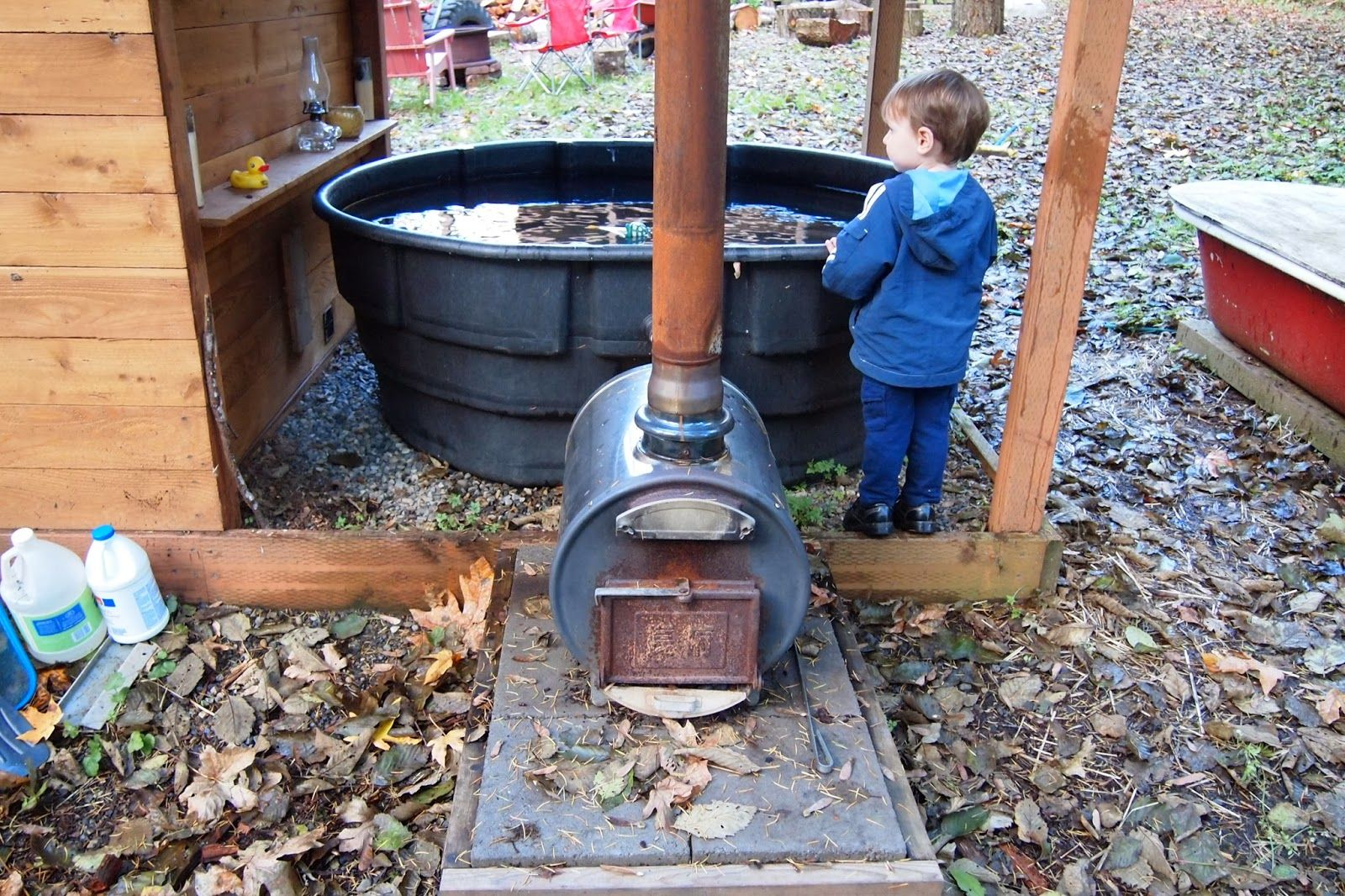 t i n y g o g o : Doug and Erin\'s wood-fired hot tub revised, now ...