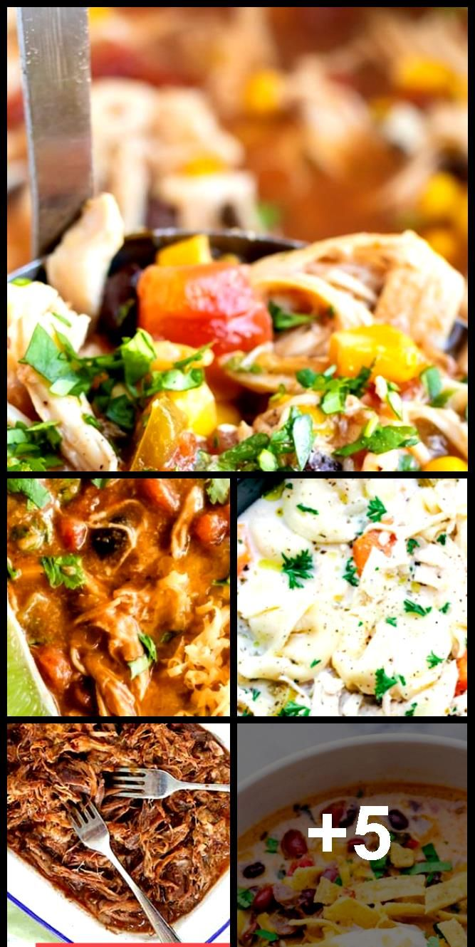 Easy Slow Cooker Chicken Tortilla Soup ,  #Chicken #Cooker #crockpotsouprecipes #Easy #Slow #... #chickentortillasoup