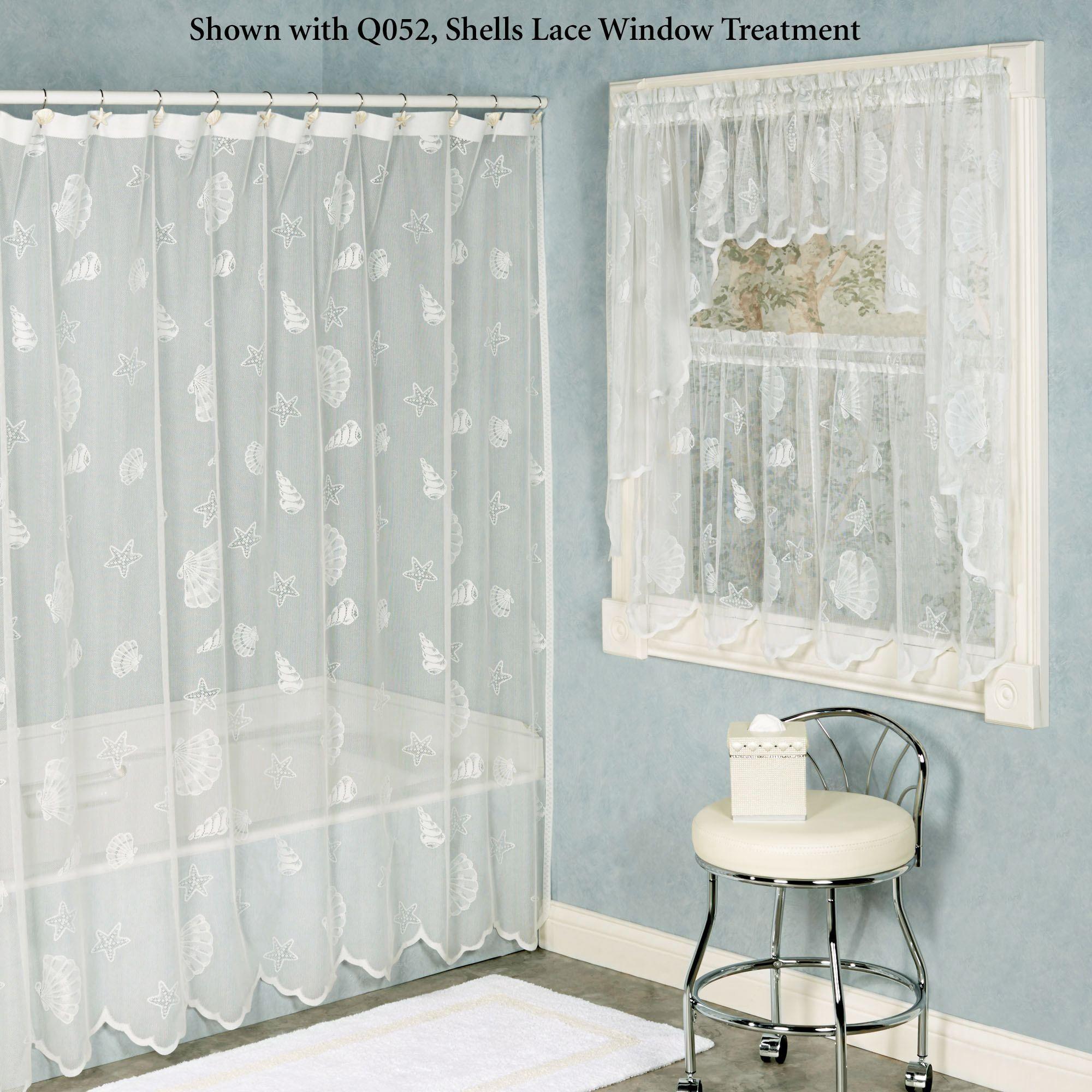 seashells lace shower curtain lace shower curtains lace shower curtains