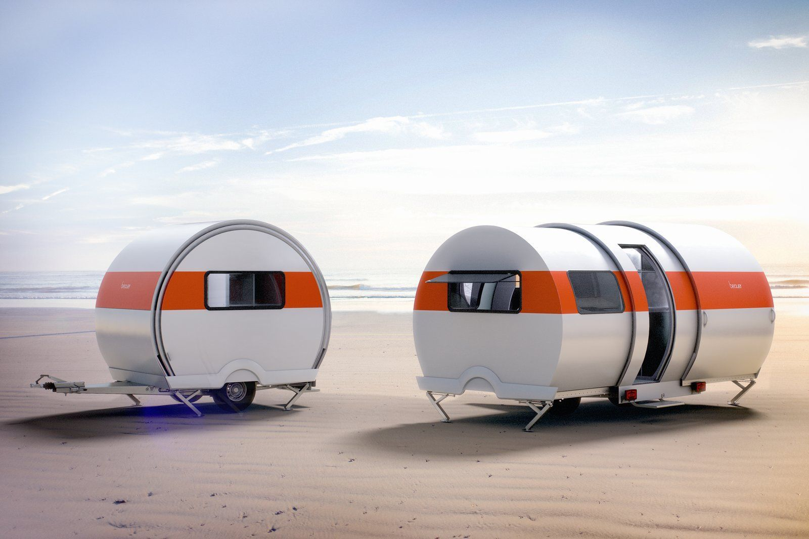 This New Camper Triples in Size With the Push of a Button -  3X Expandable Travel Trailer by BeauEr