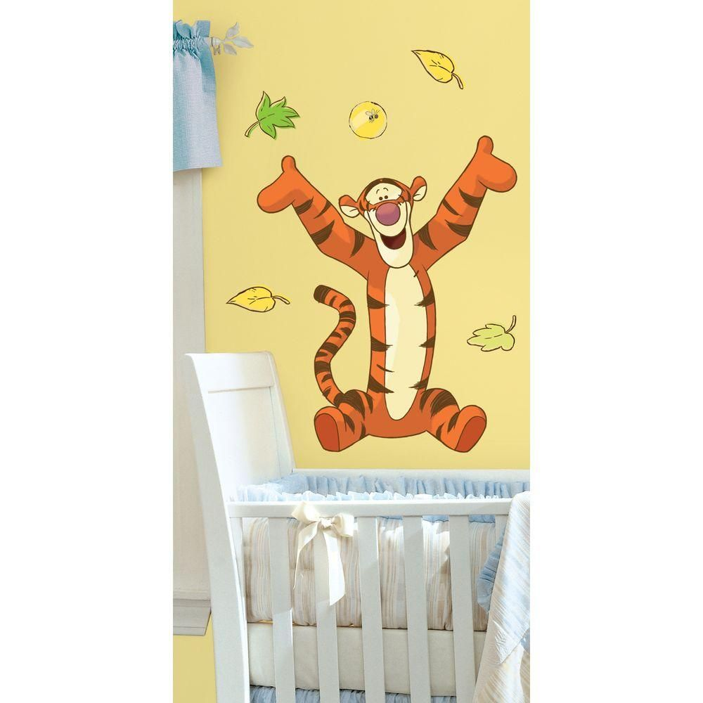 null 18 in. x 40 in. Winnie the Pooh - Tigger 11-Piece Peel and ...
