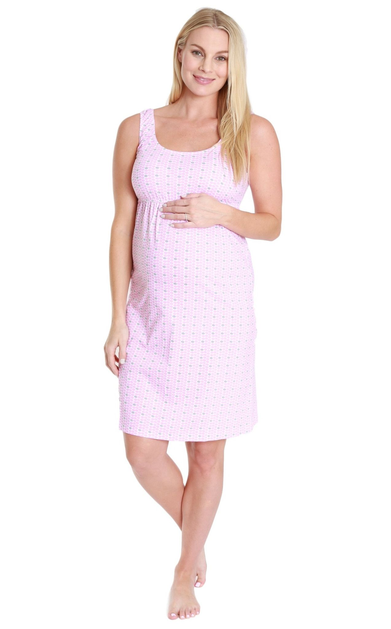 Chloe Maternity/Nursing Sleeveless Nightgown | Nightgown and Bump