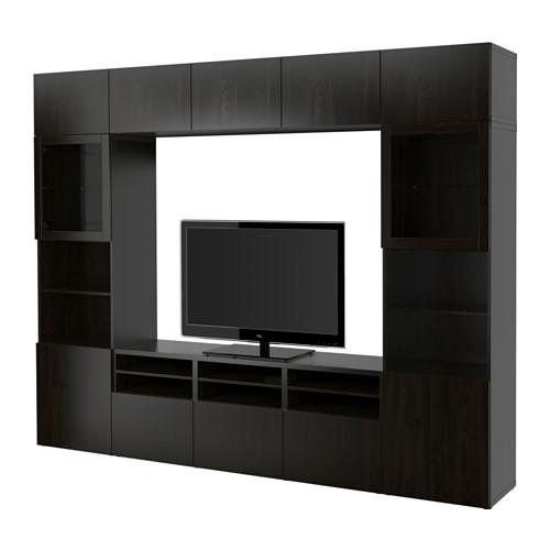 best agenc rangt t l vitrines lappviken sindvik verre transparent brun noir glissi re. Black Bedroom Furniture Sets. Home Design Ideas