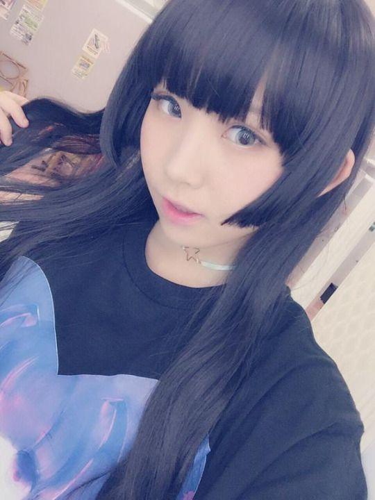 RT @enako_cos: 2着目はどげざちゃんTシャツ色違いの黒 そして、初めての姫カット…! http://flip.it/oi5hh