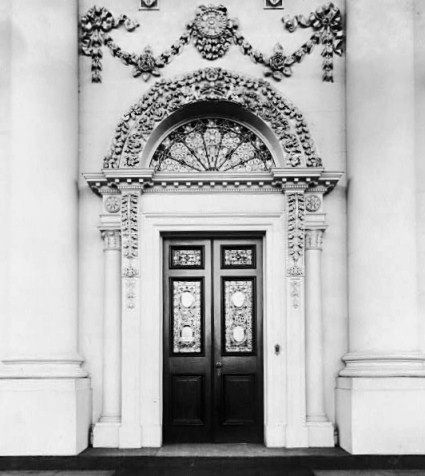 US White House North Portico era 1893 Tiffany Glass in door and transom