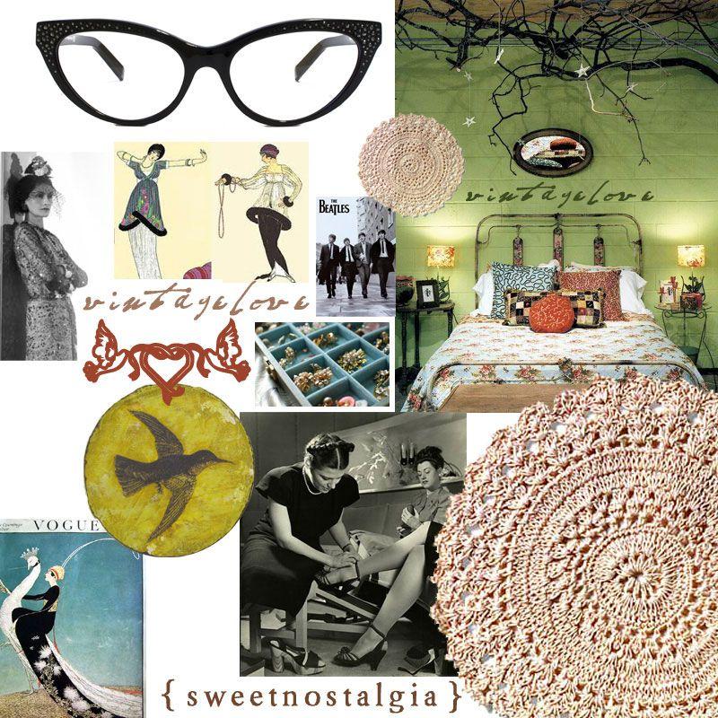 2010 blog collage for Canadian vintage fashion blog