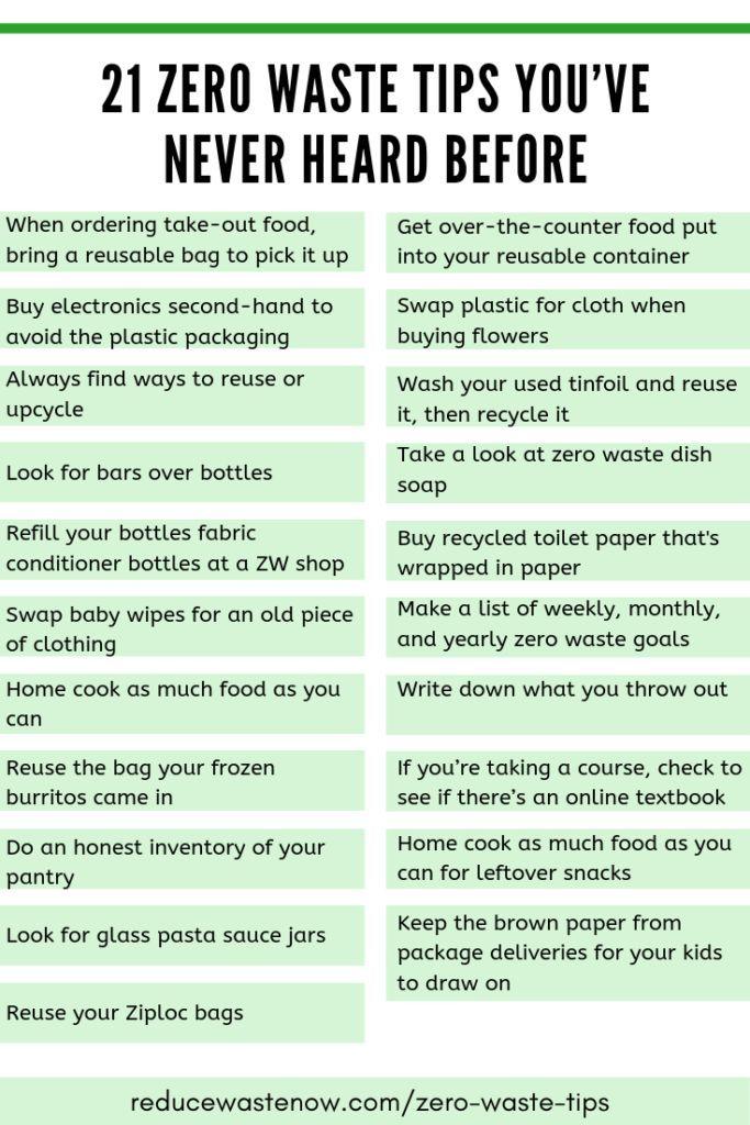 21 Zero Waste Tips You've Never Heard Before