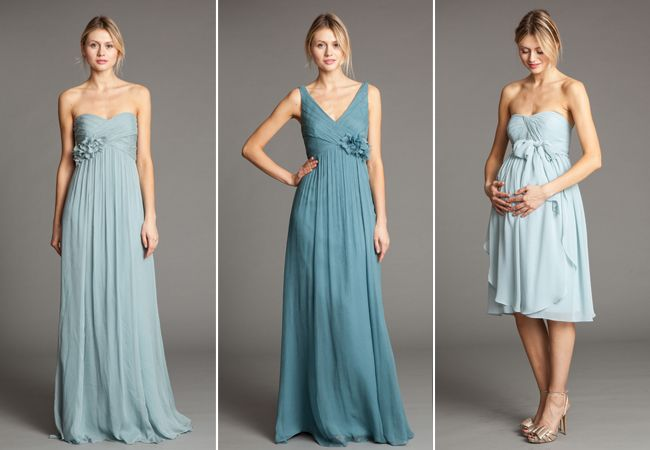 Pregnant friendly bridesmaid dresses from Jenny Yoo // From: What should my pregnant bridesmaid wear?