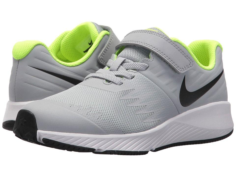 Nike Kids Star Runner (Little Kid) (Wolf Grey Black Volt White) Boys ... d14c176ef
