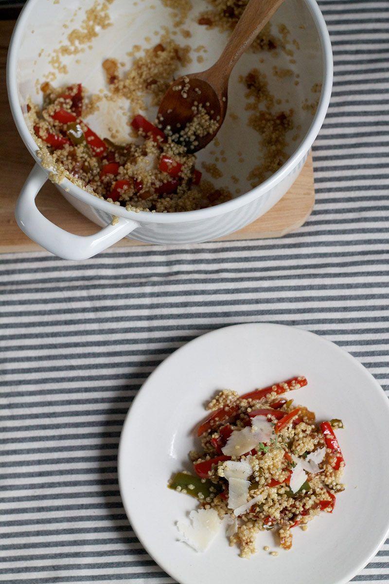 Quinoa, el ingrediente estrella. Quinoa con pimientos 'Pepperonata'. © Cortesía de Arcë.