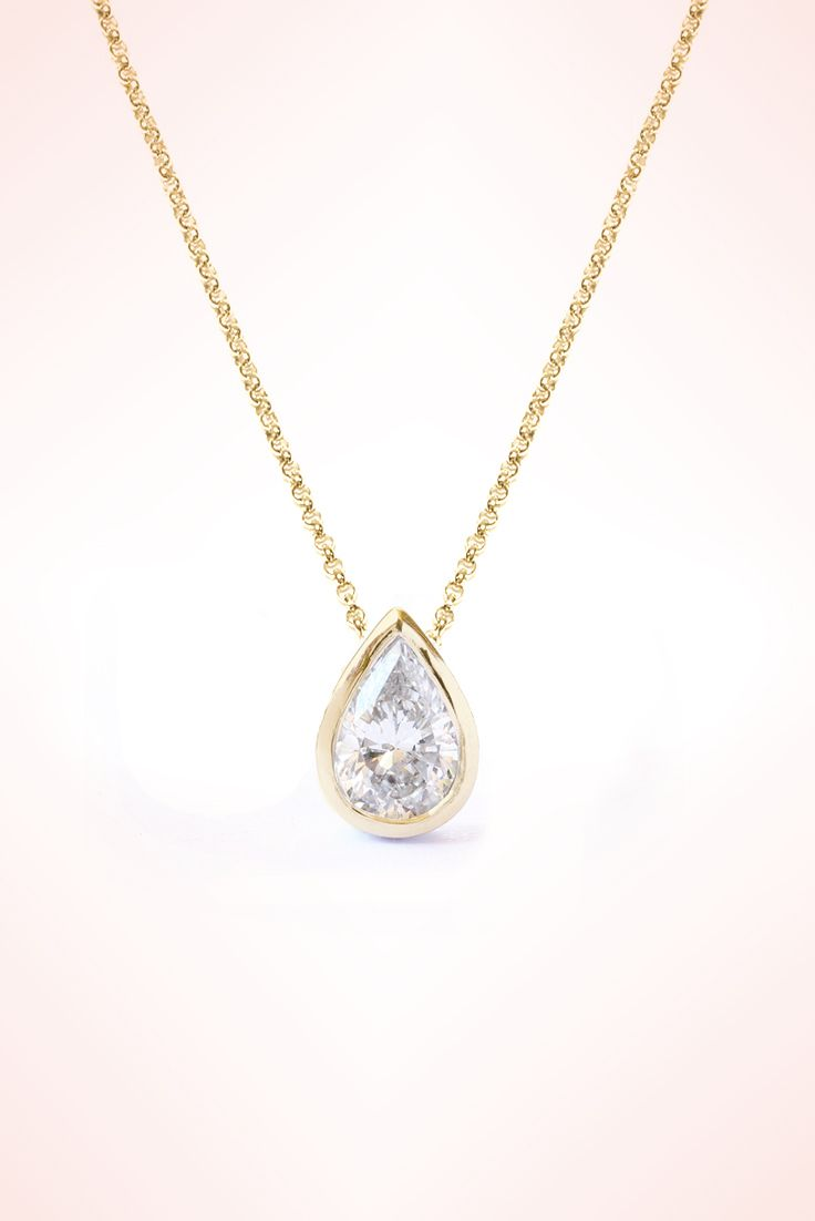 Pear shaped 03 ct diamond bezel setting pendant necklace 14k pear shaped 03 ct diamond bezel setting pendant necklace 14k white gold pendant necklace women jewelry gift mozeypictures Images