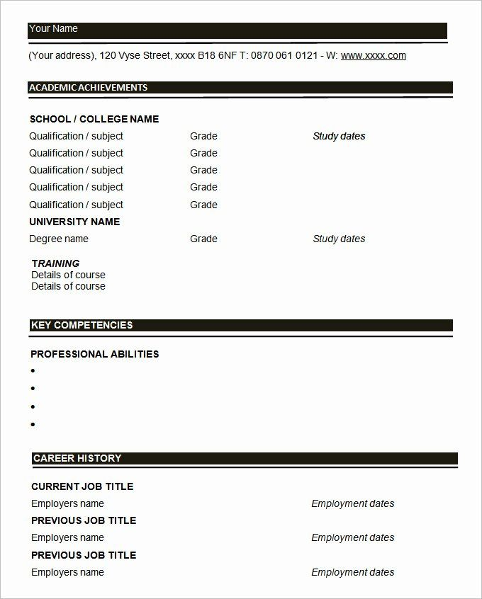 blank simple resume template beautiful 46 blank resume