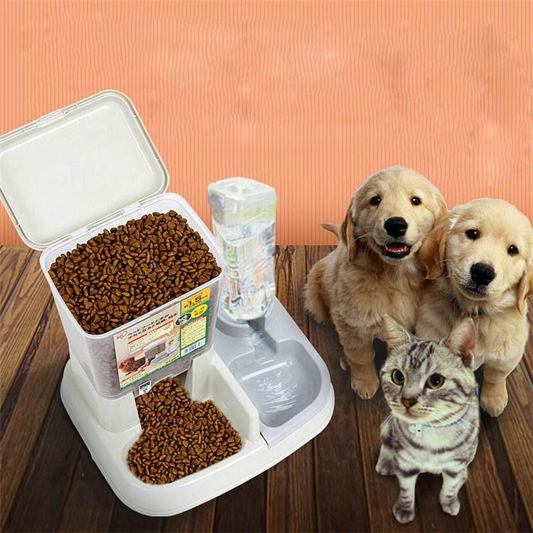 ペット給食器 ペット給水器 餌やり 水飲み 給水給食両用 犬猫用 お留守番 出張 ペットボウル 犬 餌 ペット