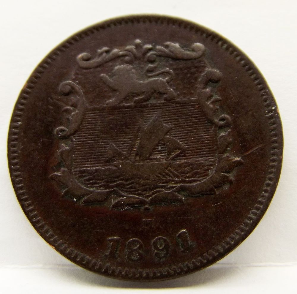 1891H British North Borneo Co. Half Cent Free Shipping