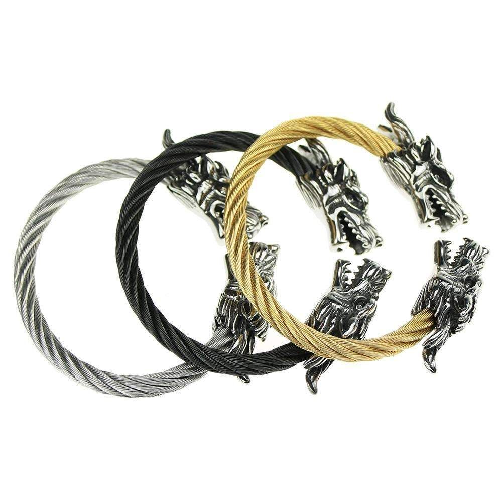 Dragon bracelet with tibetan steel variations christmas crafts