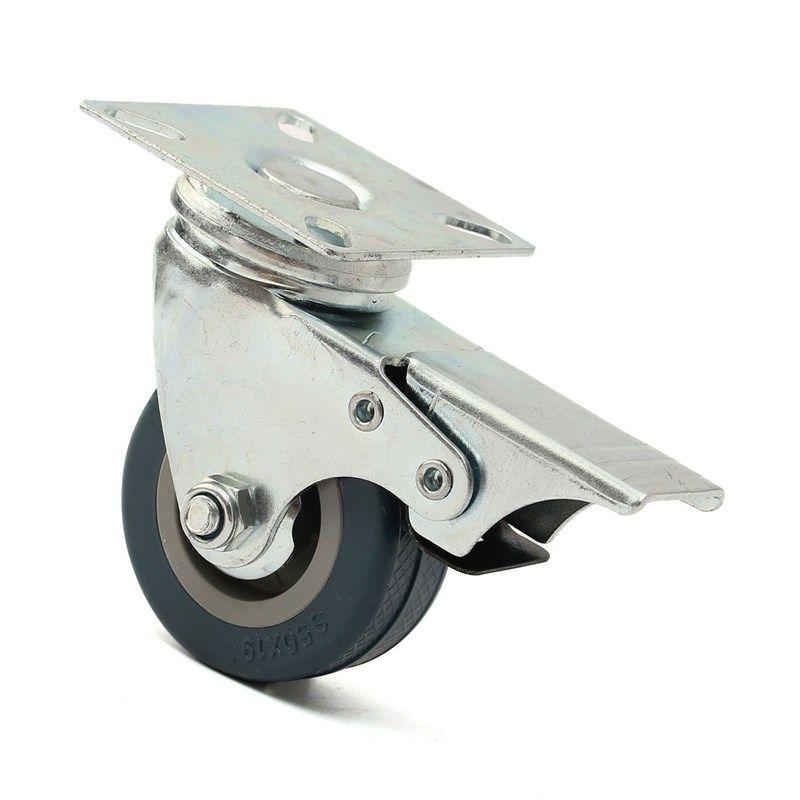Mtgather 4 X Heavy Duty 50mm Rubber Swivel Castor Wheels Trolley