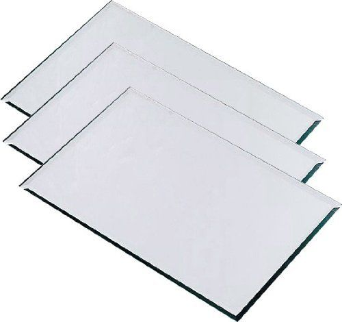 Rectangle Mirrored Glass Placemat Centerpiece 10 X18 Set Of 3