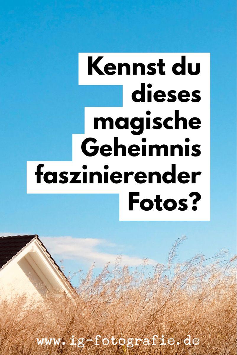 Magische Fototricks Die Kunst des Weglassens   Fotografieren ...