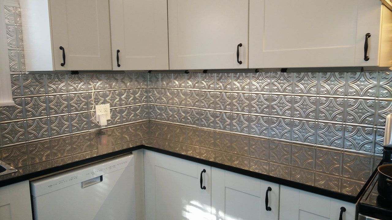 - Kitchen Backsplash Aluminum Backsplash, Herringbone Backsplash
