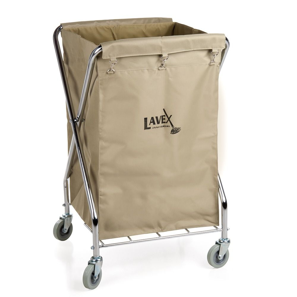 Lavex Lodging Commercial Laundry Cart Trash Cart 10 Bushel Folding Metal Frame And Canvas Bag Laundry Cart Folding Laundry Laundry